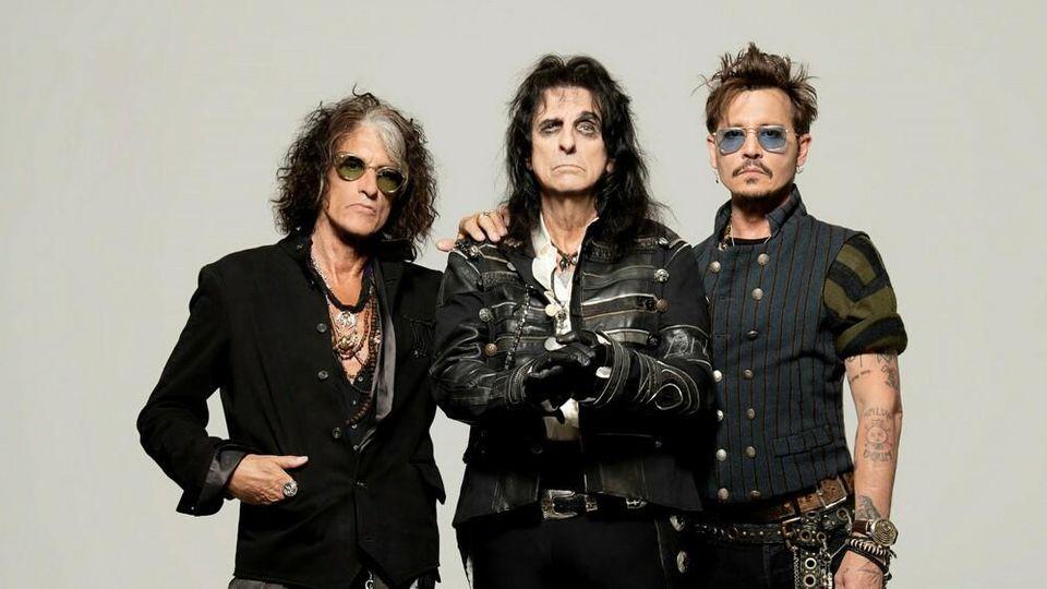 Joe Perry, Alice Cooper und Johnny Depp (v.l.) sind die Hollywood Vampires