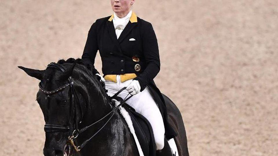 Isabell Werth gewann auf Weihegold den Grand Prix in Stuttgart. Foto: Bjorn Larsson Rosvall/TT News Agency/dpa