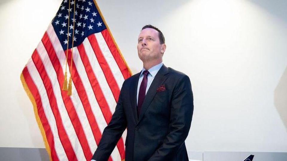 Richard Grenell nimmt an einer Pressekonferenz in der US-Botschaft in Berlin teil. Foto: Kay Nietfeld/dpa