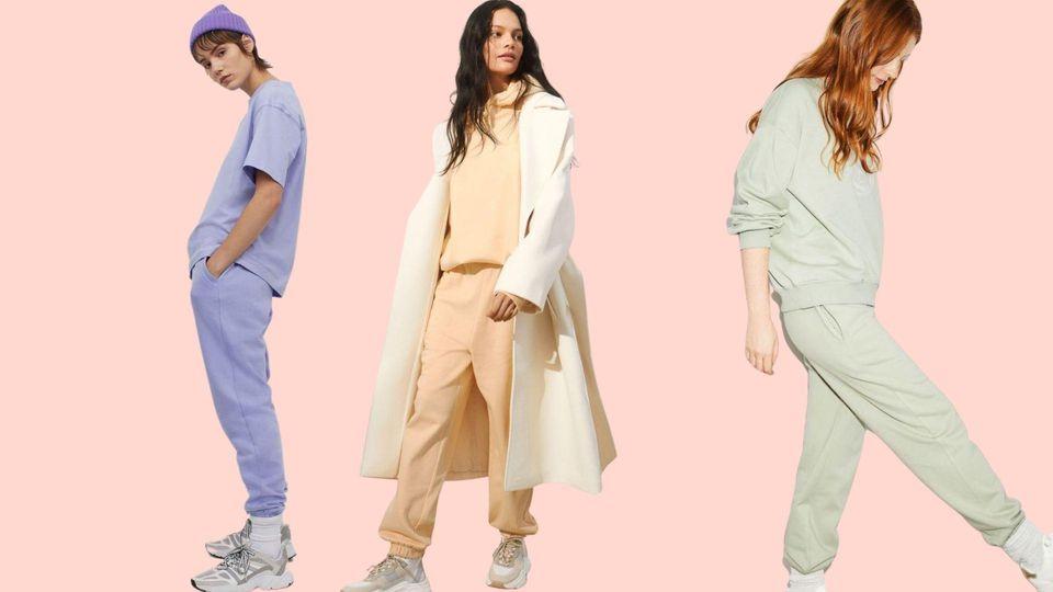Unsere Klamotten bekommen wir in den schönsten pastelligen Candyfarben - wie hier von H&M.