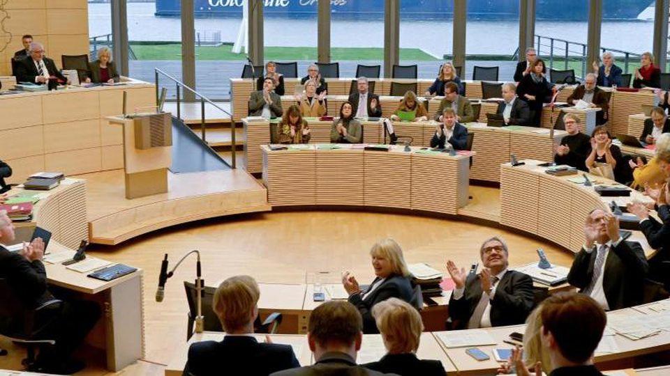Sitzung des Landtages Schleswig-Holsteins. Foto: Carsten Rehder/dpa/Archiv