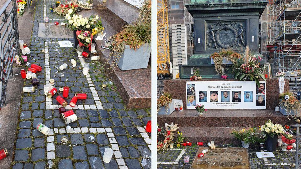 Verwüstung an Gedenkstätte der Opfer des Hanau-Anschlags am 19. Februar 2020