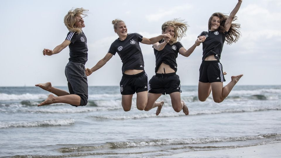 Germany visit La Grande Motte Beach- 2019 FIFA Women's World Cup France