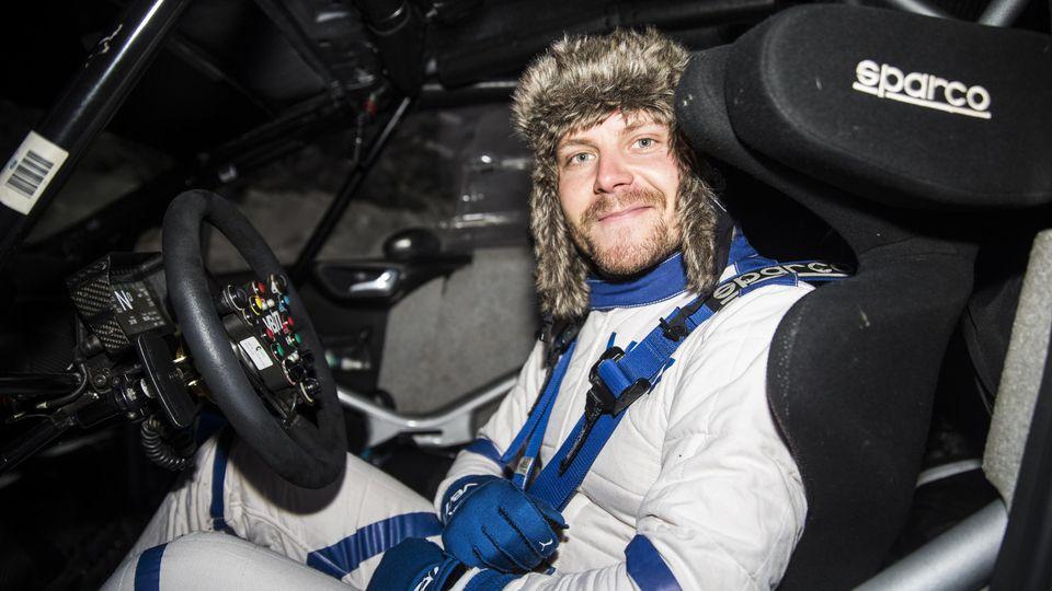 Valtteri Bottas lässt sich immer wieder für Rally-Teilnahmen begeistern: Hier Anfang des Jahres in Finnland