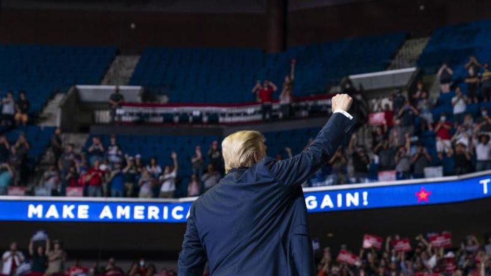 Noch Plätze frei: Donald Trumps Präsidentschaftswahlkampf entfacht wenig Feuer. Foto: Evan Vucci/AP/dpa