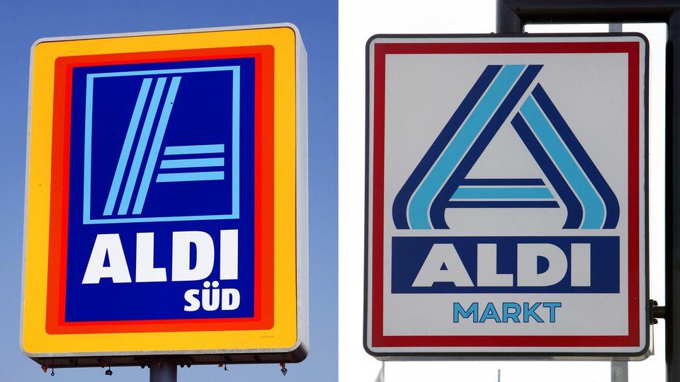 Aldi Nord und Aldi Süd stellen in ihren Prospekten den günstigen Preis ihrer Eigenmarken in den Vordergrund - und vergleichen.