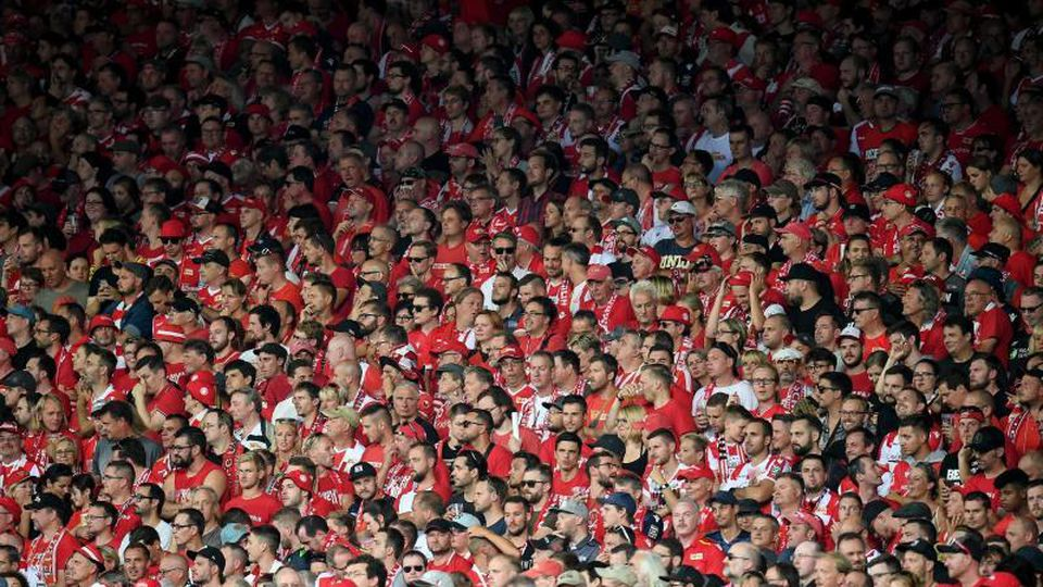 Die Unioner Fans schweigen beim Spiel gegen Leipzig aus Protest. Foto: Britta Pedersen/dpa-Zentralbild/dpa/Archivbild