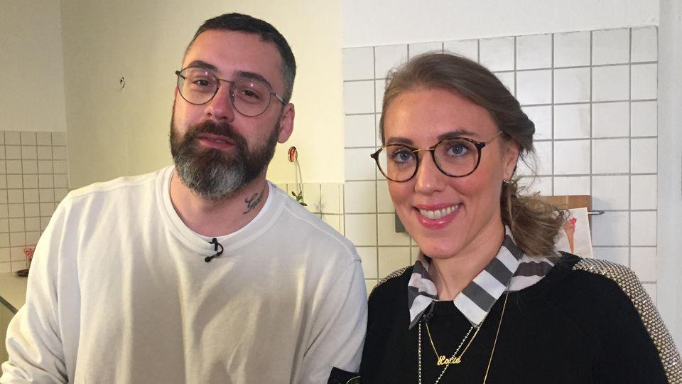 Rapper Sido und Reporterin Lotte