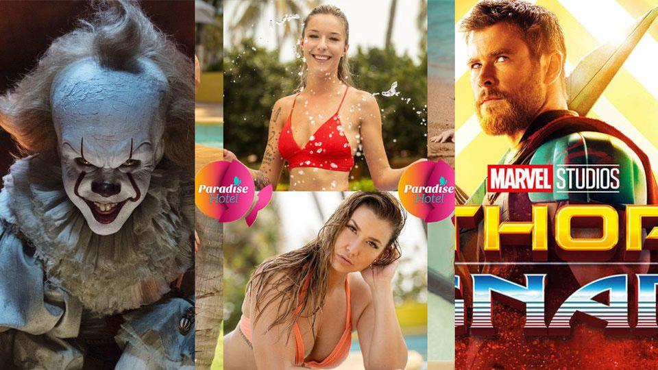 """Was soll es sein ab August 2019? Horrorfilm """"Es"""" bei Amazon Prime? Die neue RTL-Datingshow """"Paradise Hotel"""" bei TVNOW? Oder lieber Marvel-Action """"Thor - Tag der Entscheidung"""" bei Netflix?"""