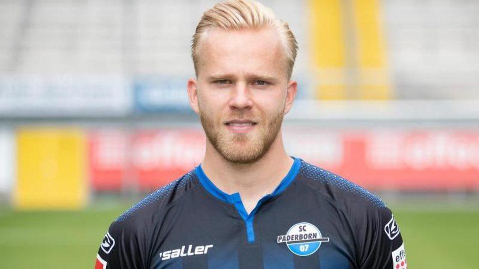 Paderborns Spieler Marcel Hilßner. Foto: Friso Gentsch/dpa/Archivbild
