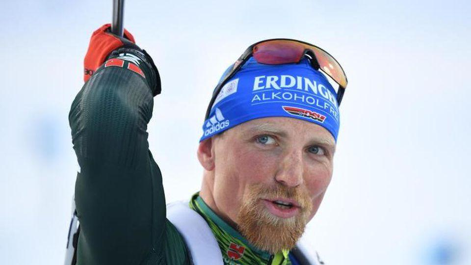 Ist mit Deutschlands Biathleten in Hochfilzen gefordert: Erik Lesser. Foto: Sven Hoppe/dpa
