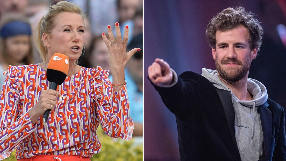 """Andrea Kiewel ist stinksauer auf Comedian Luke Mockridge - dessen Auftritt beim """"ZDF Fernsehgarten"""" ging für Moderatorin unter die Gürtellinie."""