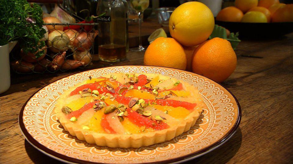 Frischekick! Alles mit Zitrusfrüchten: Orangen-Grapefruit-Tarte