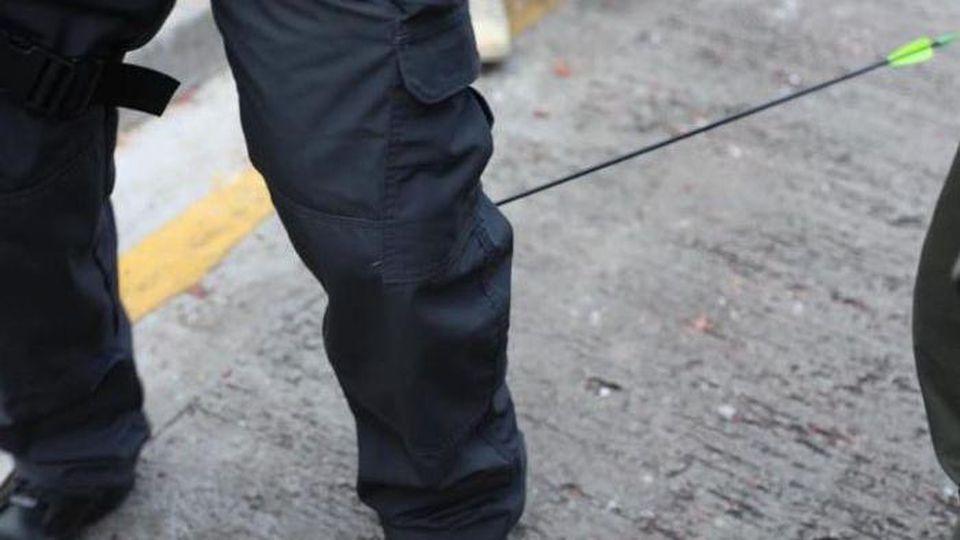 Verletzter Polizist in Hongkong