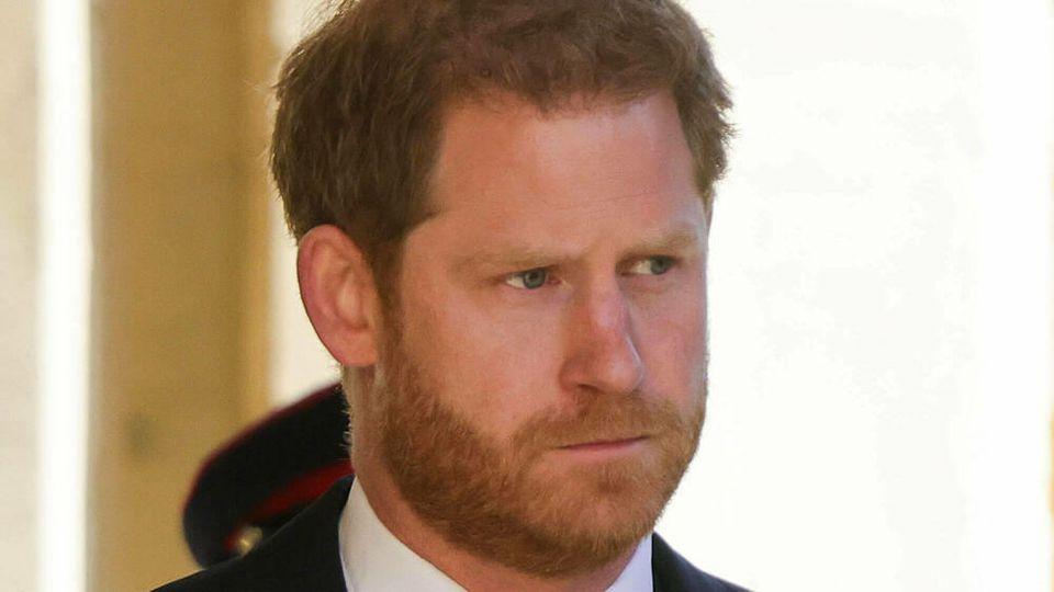 Prinz Harry vor der Trauerfeier für seinen verstorbenen Großvater