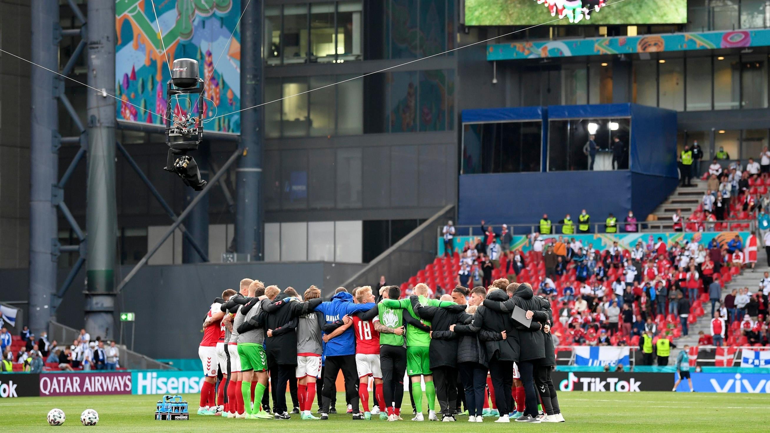 Die Dänen wollen für Christian Eriksen gegen Belgien gewinnen.