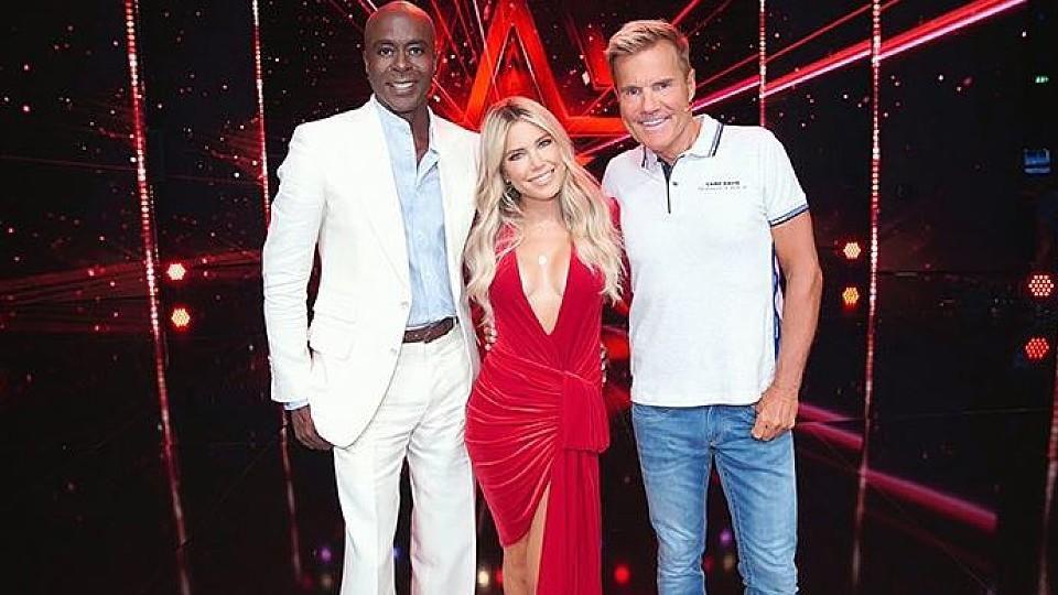 Wie schön sie strahlen: Bruce und Dieter freuen sich, Sylvie wieder an ihrer Seite in der Supertalent-Jury zu haben.