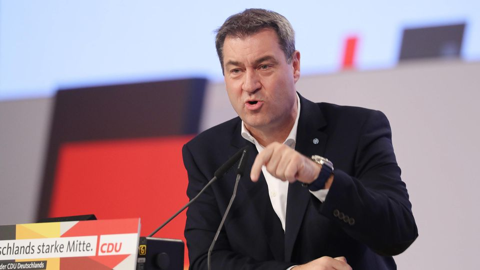 Der bayerischer Ministerpräsident Markus Söder möchte Kanzler werden.  Die Junge Union unterstützt das.