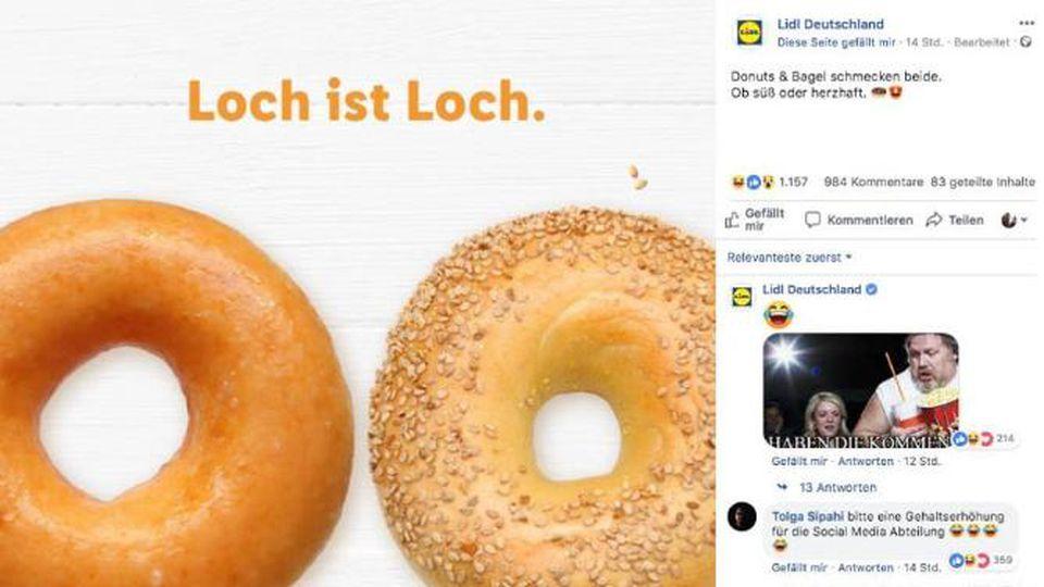Lidl löscht umstrittene Facebook-Werbung für Bagels und Donuts
