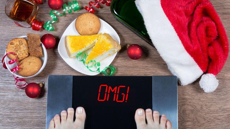 Nach dem leckeren Essen an den Feiertagen kommt oft das schlechte Gewissen auf der Waage.
