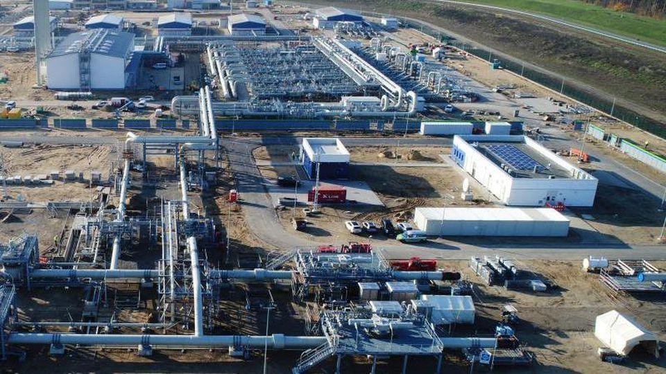 Nord Stream 2 - Blick über die Baustelle der Pipeline. Foto: Stefan Sauer/zb/dpa/Archivbild