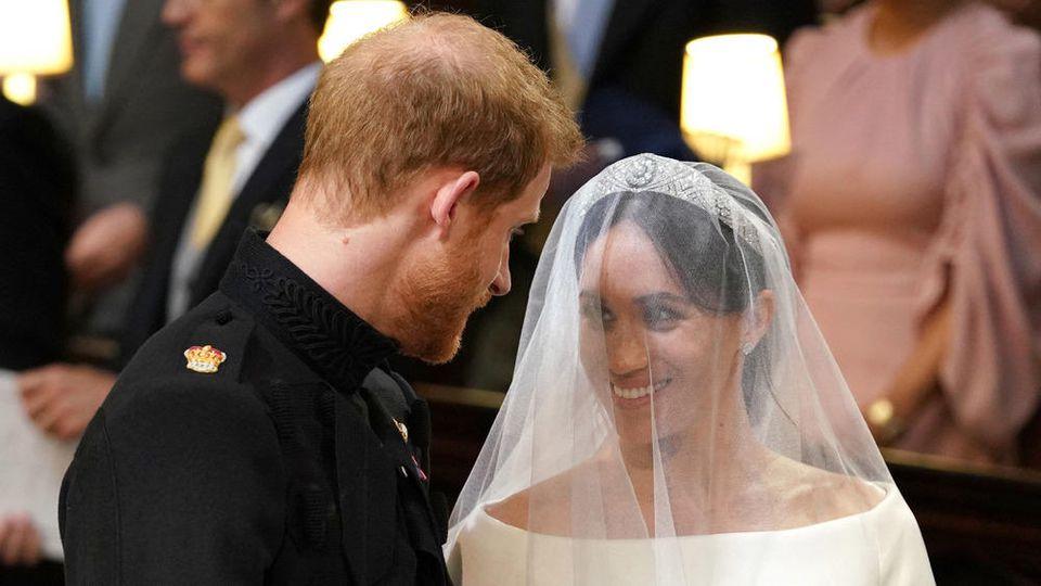 Prinz Harry und Herzogin Meghan bei ihrer kirchlichen Trauung am 19. Mai 2018.