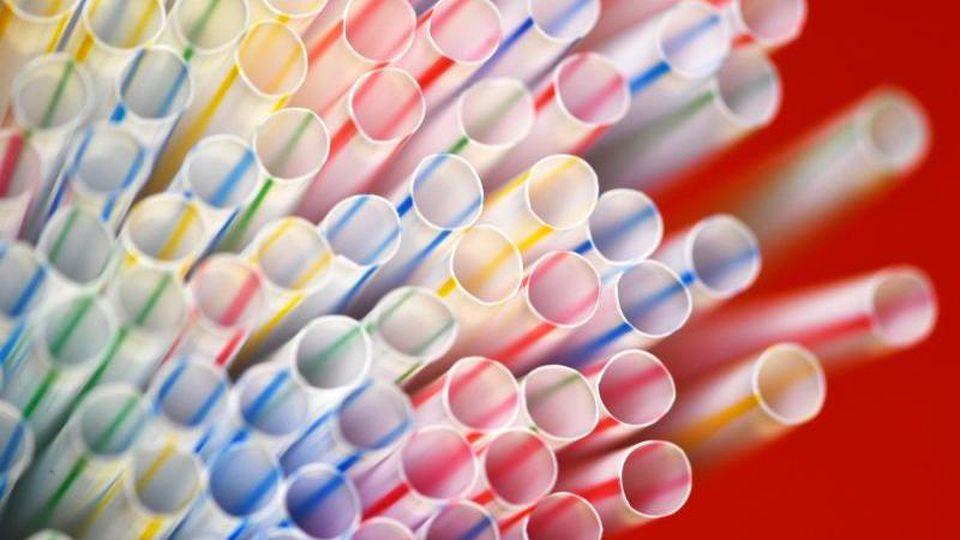 Das EU-Verbot von Plastiktellern, Trinkhalmen und anderen Wegwerfprodukten aus Kunststoff ist unter Dach und Fach. Foto: Ralf Hirschberger/Illustration