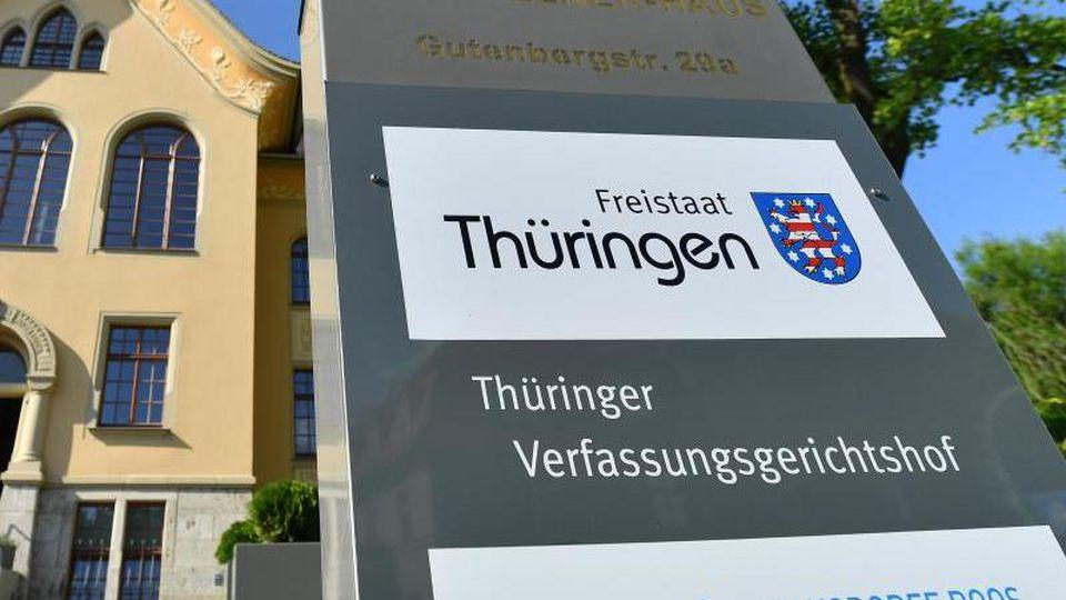Der Thüringer Verfassungsgerichtshof in Weimar.