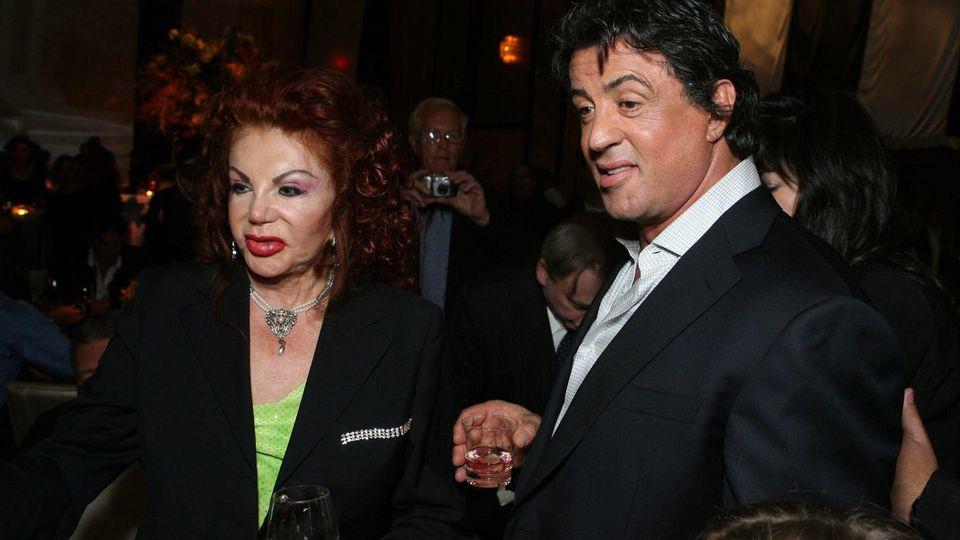 Jackie und Sylvester Stallone bei einem Auftritt im Jahr 2006