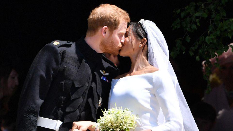 Prinz Harry und Meghan bei ihrer Hochzeit 2018