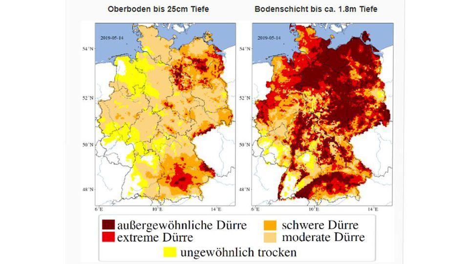 Deutschland steuert auf eine Wasserknappheit zu.