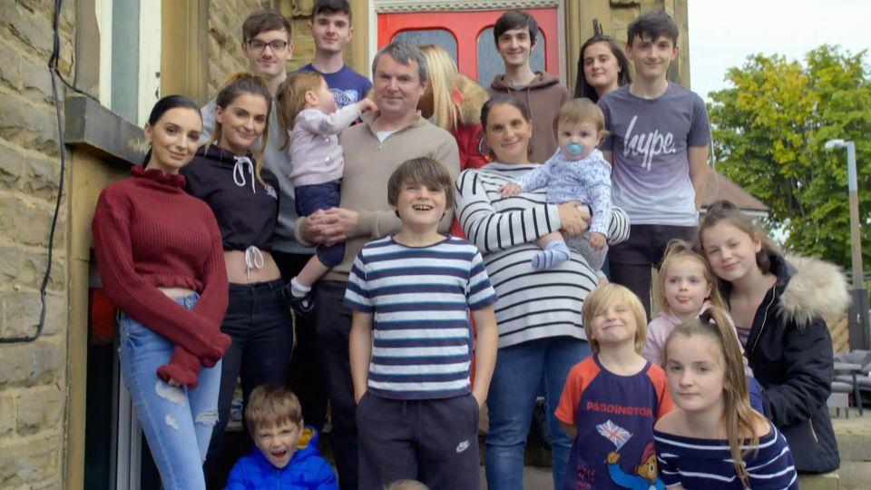 Insgesamt 22 Kinder haben die Radfords bislang.