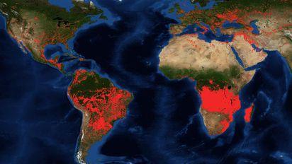 Karte Erde.Vom Amazonas Bis Nach Alaska Karte Der Nasa Zeigt Wo Die Welt
