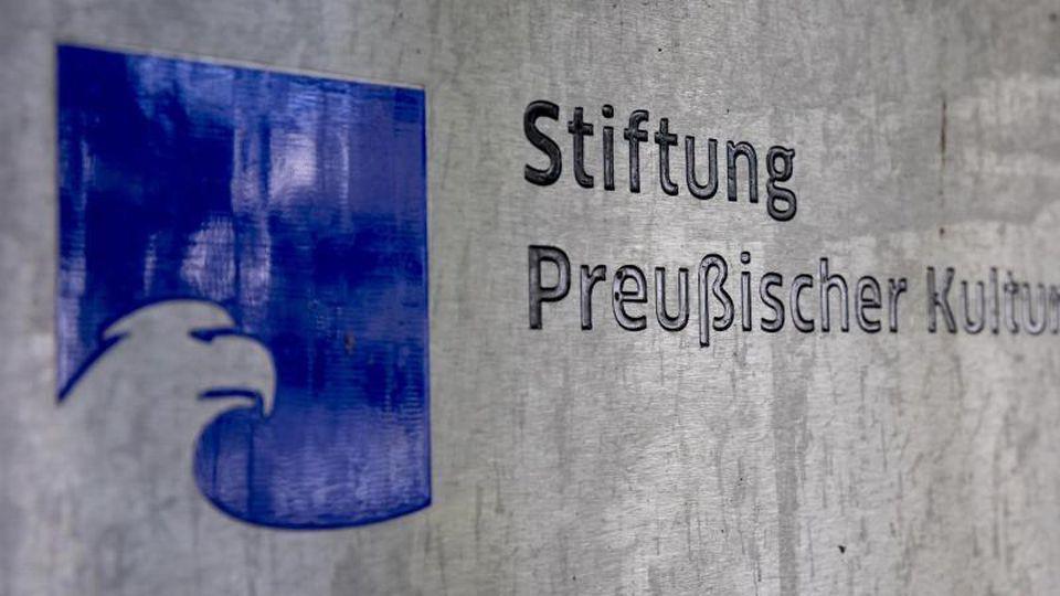Das Logo der Stiftung Preußischer Kulturbesitz (SPK)-. Foto: Christoph Soeder/dpa/Symbolbild