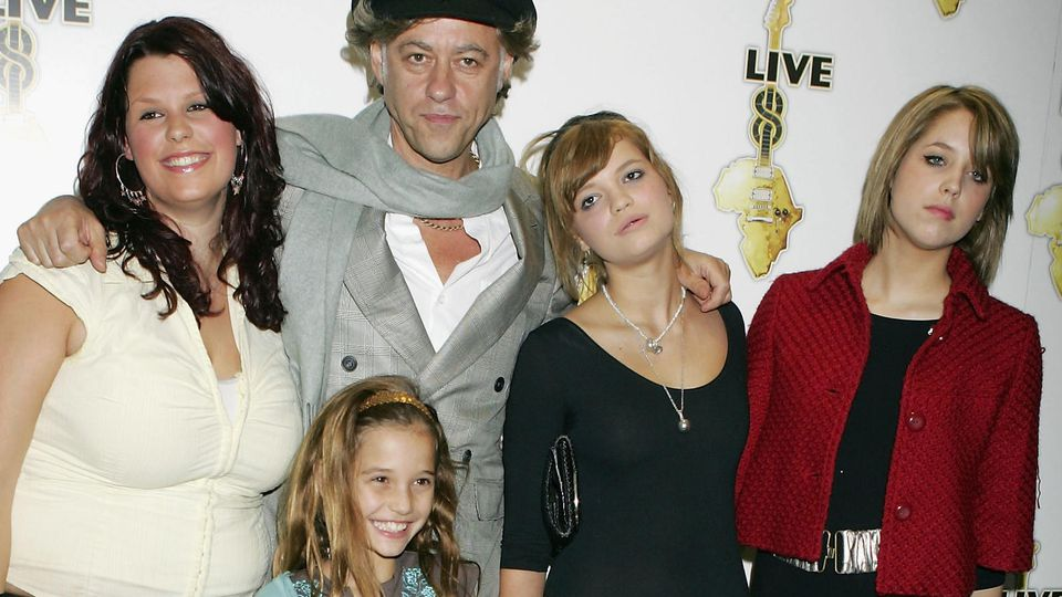Die Geldof-Familie 2005 in London