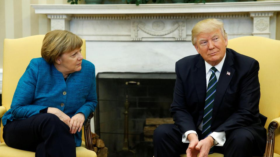 Angela Merkel und Donald Trump im Oval Office