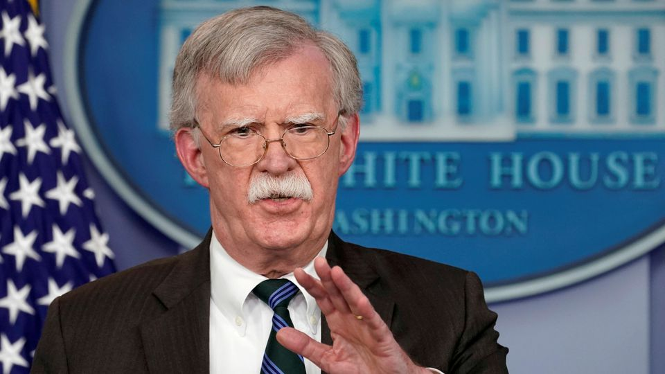 FILE PHOTO: U.S. President Donald Trump's national security adviser John Bolton speaks during a press briefing at the White House in Washington, U.S., November 27, 2018.  REUTERS/Kevin Lamarque/File Photo