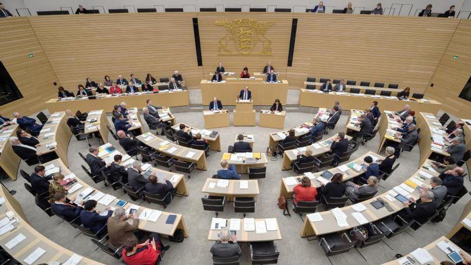 Der Landtag von Baden-Württemberg in Stuttgart. Foto: Sina Schuldt/Archivbild