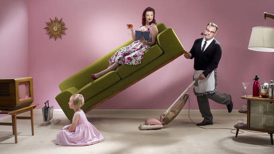 Hausarbeit ist meistens Frauensache - oder?