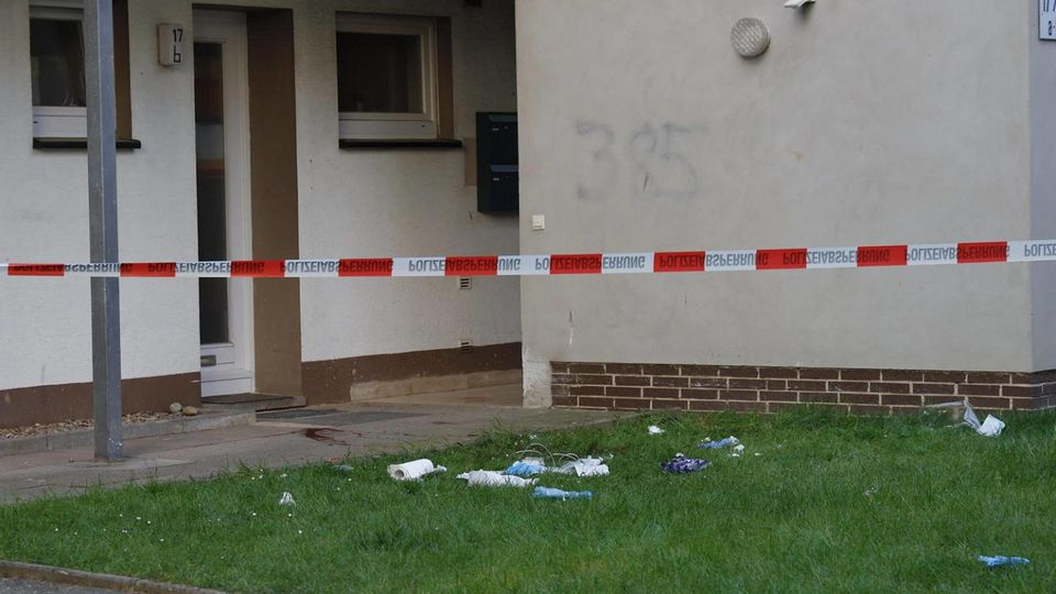 In diesemHaus in Bad Essen im Landkreis Osnabrück wurden zwei Menschen durch Messerstiche verletzt.
