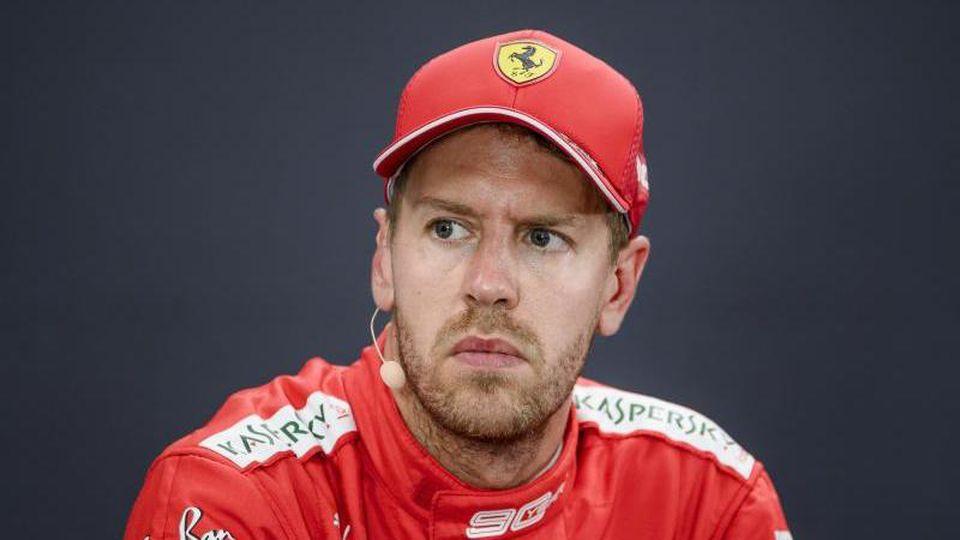Muss vorerst keine Rennsperre fürchten: Ferrari-Pilot Sebastian Vettel. Foto: Nicolas Lambert/BELGA/dpa