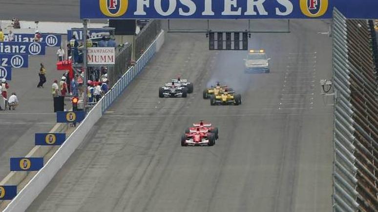 Zum Abgewöhnen: Beim US-GP 2005 starteten nur sechs Autos