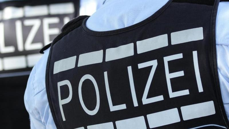 In Polizei-Westen gekleidete Polizisten. Foto: Silas Stein/dpa/Archivbild