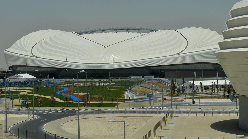 (190517) -- Doha, May 17, 2019 -- General view outside the Al Wakrah Stadium before its inauguration ceremony at Al Wakrah in Doha, capital of Qatar, on May 16, 2019. Qatar inaugurated its first newly-built Al-Wakrah Stadium for the 2022 FIFA World C