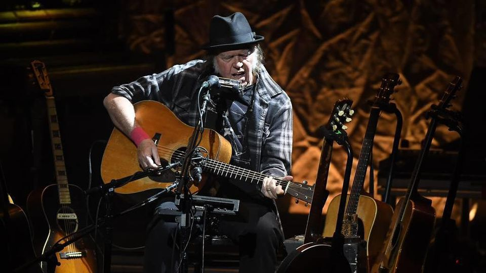 January 26, 2019 - Mpls, MINNESOTA, USA - Neil Young performed Saturday, Jan. 26, 2019 at the Pantages Theater in Minneapolis, Minn. Ã'Â¥ aaron.lavinsky@startribune.com ....Neil Young performed Saturday, Jan. 26, 2019 at the Pantages Theater in Minne