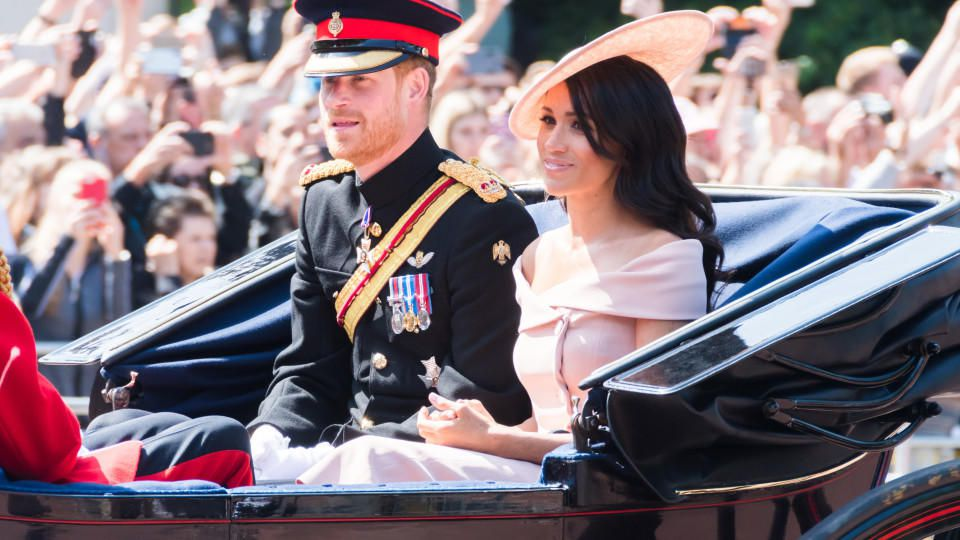 "Harry und Meghan bei der ""Trooping the Colour""-Parade 2018."