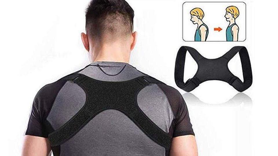 Der Haltungstrainer (oder auch Geradehalter) soll einen Rundrücken vermeiden und Muskelverspannungen entgegenwirken.