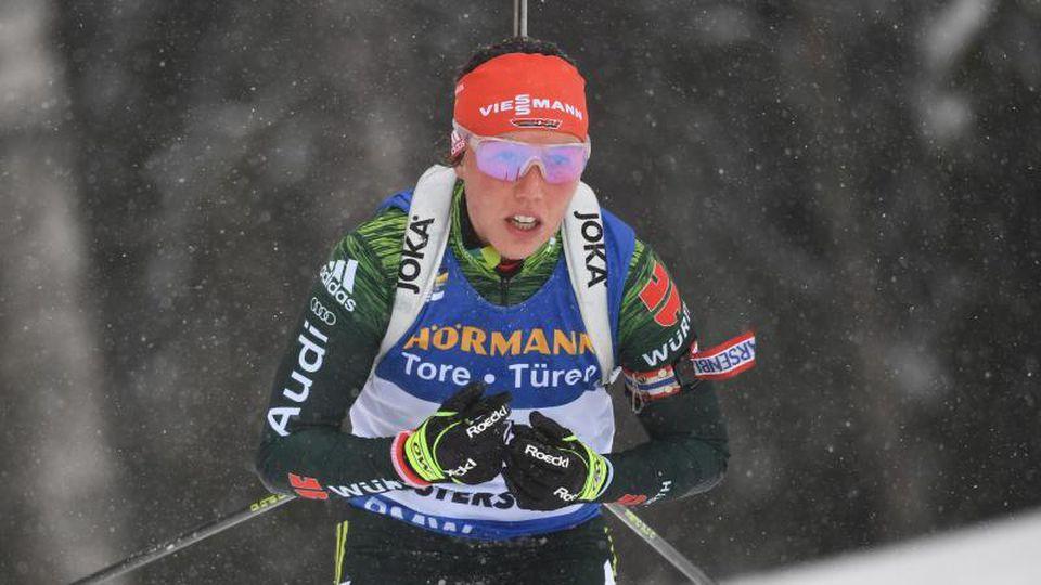 Laura Dahlmeier hat in diesem Jahr einen Massenstart gewonnen. Foto: Sven Hoppe