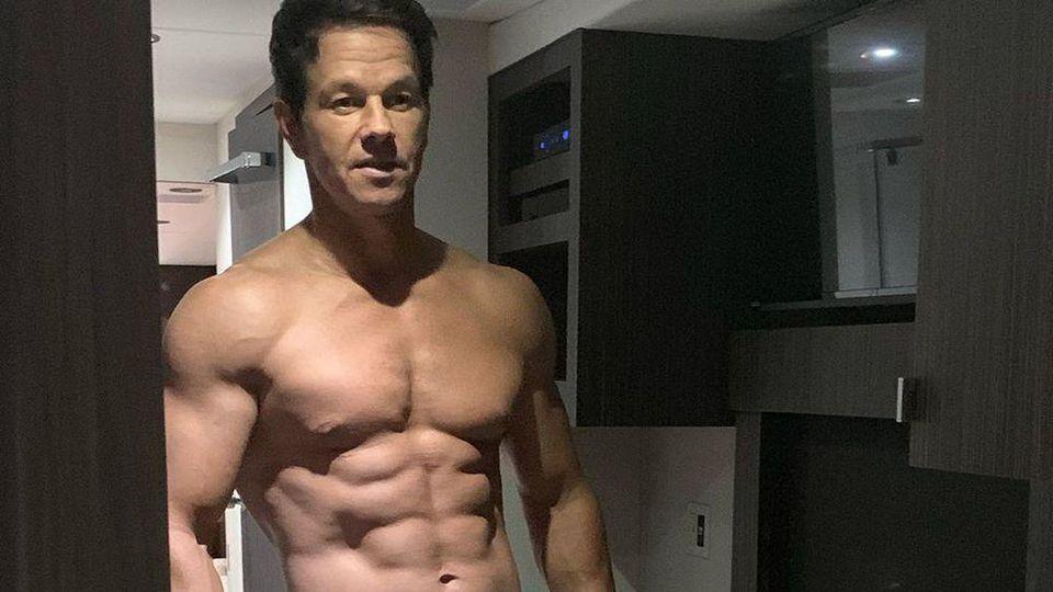 An Schauspieler Mark Wahlberg lässt sich kein Gramm Fett erkennen