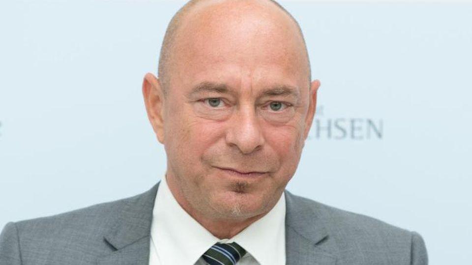 Thomas Feist, Regierungsbeauftragter für jüdisches Leben, bei einer Pressekonferenz. Foto: Sebastian Kahnert/dpa-Zentralbild/dpa